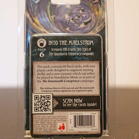 arkham horror card game into the maelstrom back