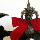 black-dragon-with-bow