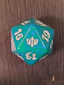 Conflux Green Spindown Dice