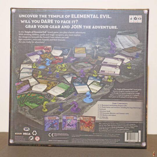 dd board game temple of elemental evil back