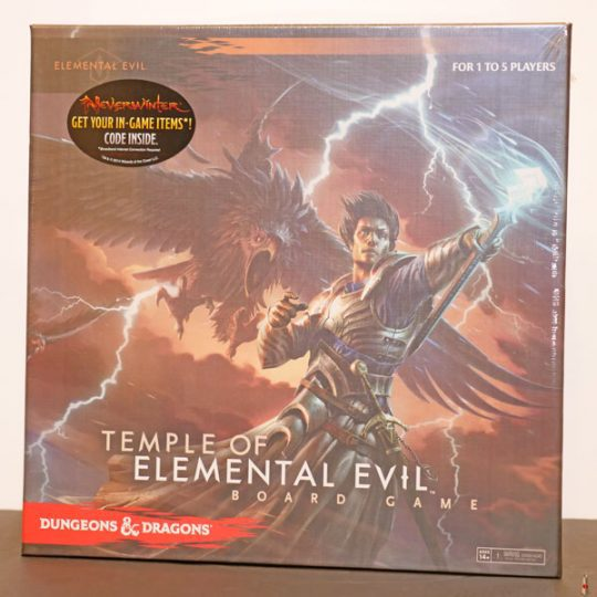 dd board game temple of elemental evil front