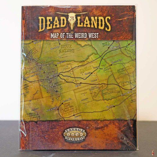 deadlands map of the weird west front