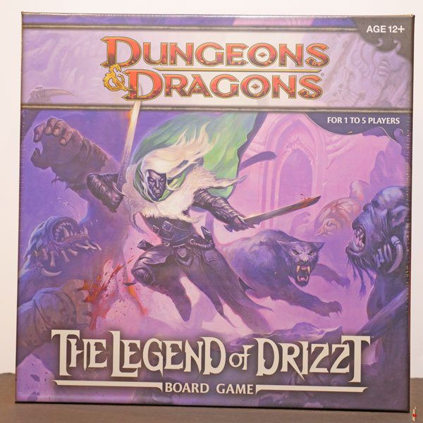 dungeons dragons legend of drizzt board game front