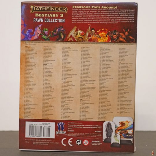 pathfinder 2e bestiary 3 pawn collection back