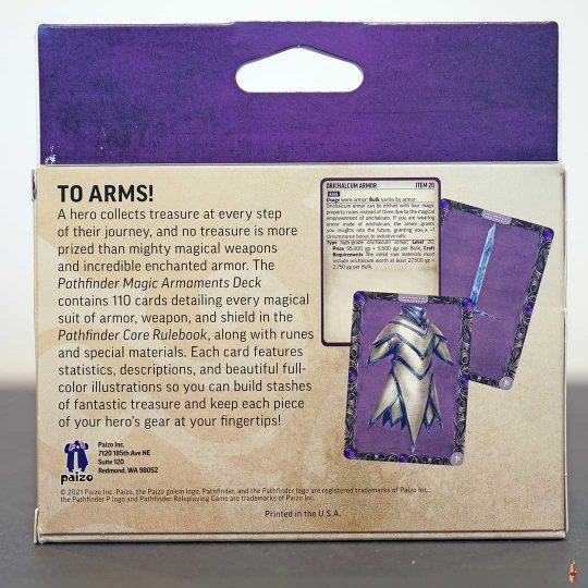 pathfinder 2e magic armaments deck back