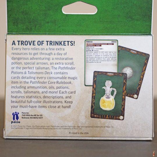 pathfinder 2e potions talismans deck back