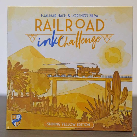 railroad ink challenge shining yellow front