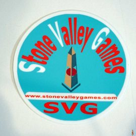 stone valley games circle sticker