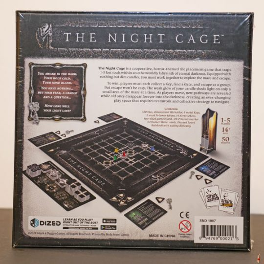 the night cage back