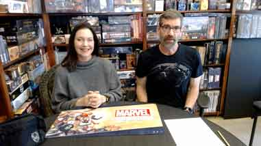 Wendy and Eric draw for the winners of the Marvel Champions the Card Game Swag Giveaway
