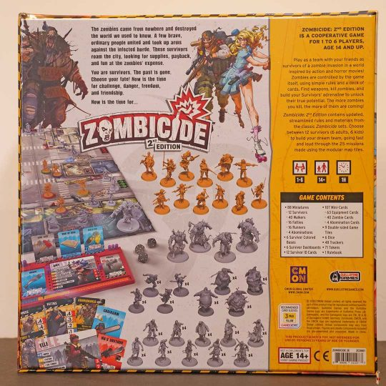 zombicide 2nd edition back