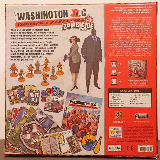 zombicide 2nd edition washington z.c. back